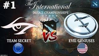 Secret vs EG #1 (BO3) The International 2019